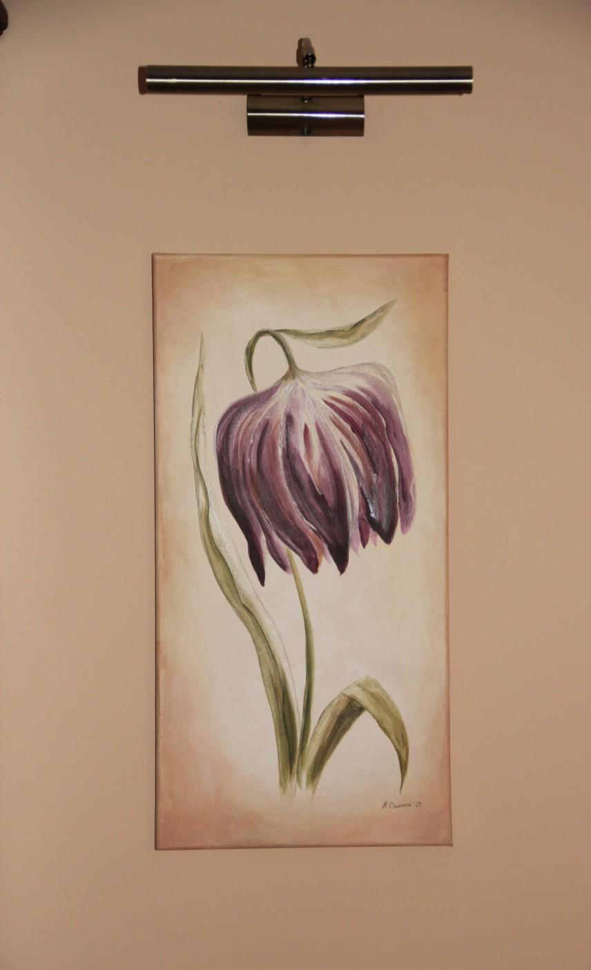 Projektowanie wnętrz Szczecin - obraz z kwiatem