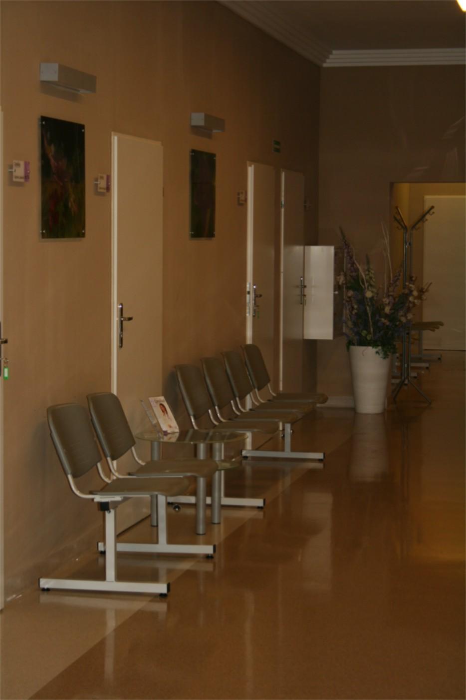 Wystrój wnętrz w gabinecie lekarskim w Szczecinie