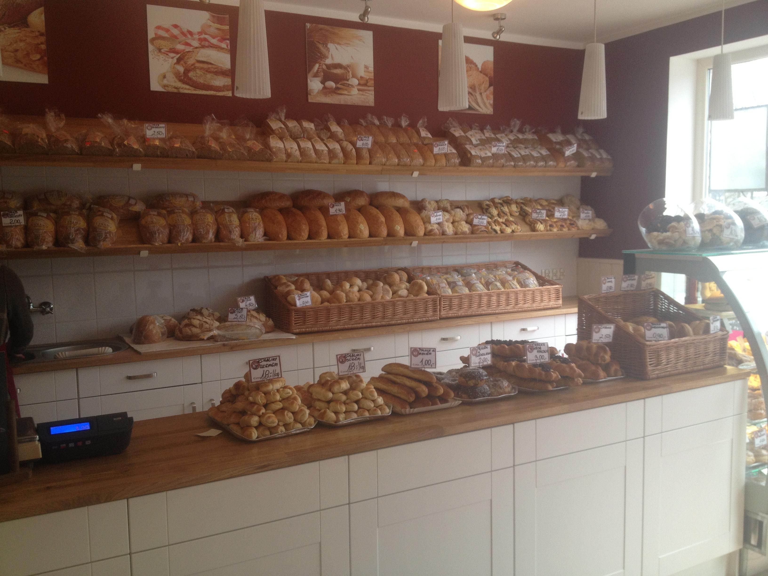 Projekt wnętrza piekarni w Szczecinie